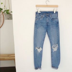 Levi's 505c High Rise Joey Jeans Ripped Knee